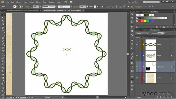 Correcting and adjusting a pattern brush: Illustrator CS6 One-on-One: Mastery