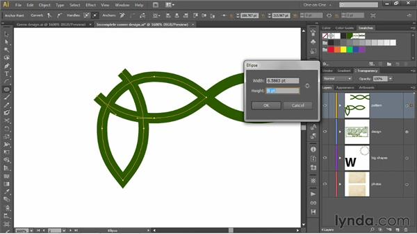 Adding an angled loop to a corner design: Illustrator CS6 One-on-One: Mastery