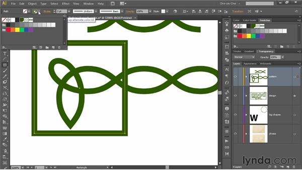 Creating end tiles and tile perimeters: Illustrator CS6 One-on-One: Mastery