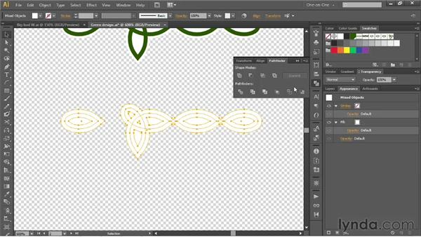 Adding a white buffer zone to a pattern brush: Illustrator CS6 One-on-One: Mastery