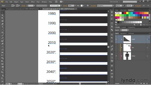 Reformatting text and values in a graph: Illustrator CS6 One-on-One: Mastery