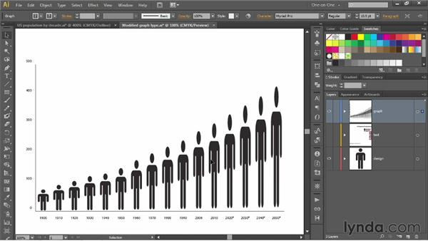 Creating and applying a graph design: Illustrator CS6 One-on-One: Mastery