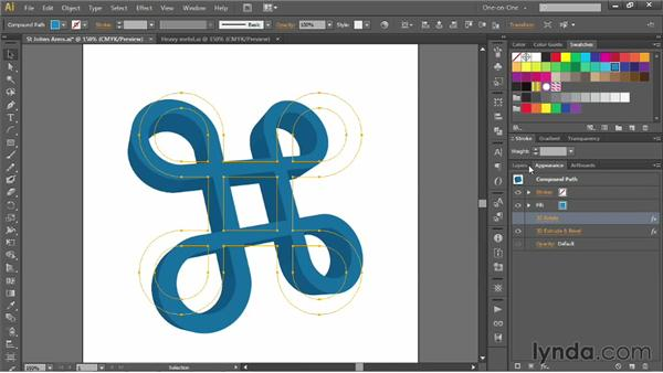 Introducing the three kinds of 3D in Illustrator: Illustrator CS6 One-on-One: Mastery