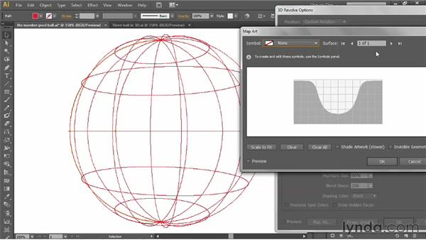 Mapping artwork onto a 3D object: Illustrator CS6 One-on-One: Mastery