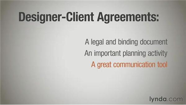 Introduction to contracts: Running a Design Business: Designer-Client Agreements