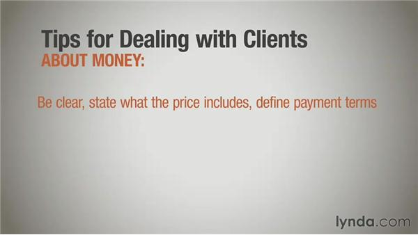 Talking money: General tips: Running a Design Business: Designer-Client Agreements