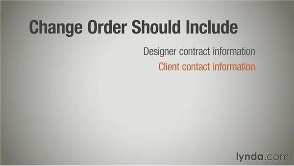 Amending contracts with change orders: Running a Design Business: Designer-Client Agreements