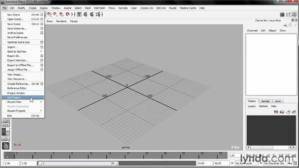 Using the exercise files: Liquid Simulation in Maya