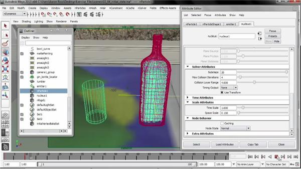 Setting an initial state: Liquid Simulation in Maya