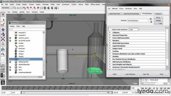 Creating high-quality simulations: Liquid Simulation in Maya