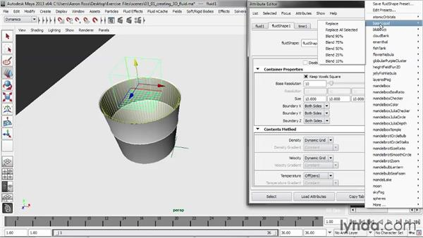 Creating a 3D fluid container: Liquid Simulation in Maya