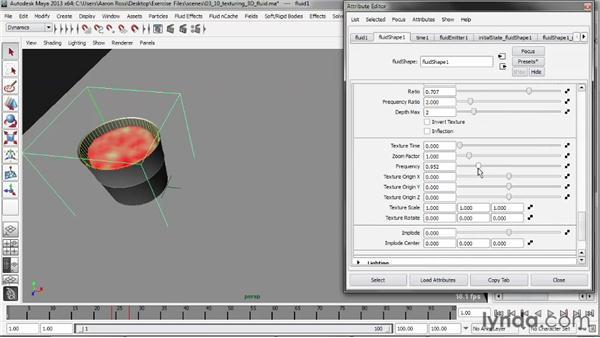 Texturing a 3D fluid: Liquid Simulation in Maya