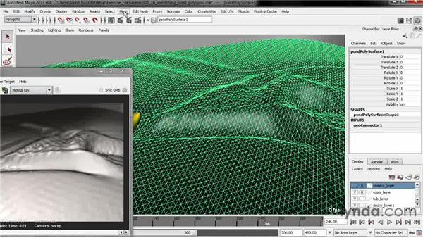 Smoothing pond polygons: Creating Fluid Effects in Maya