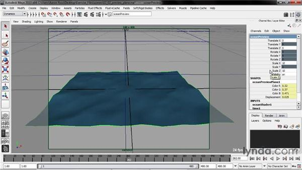 Working with a preview plane: Creating Fluid Effects in Maya