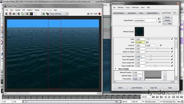 Customizing the Ocean shader: Creating Fluid Effects in Maya