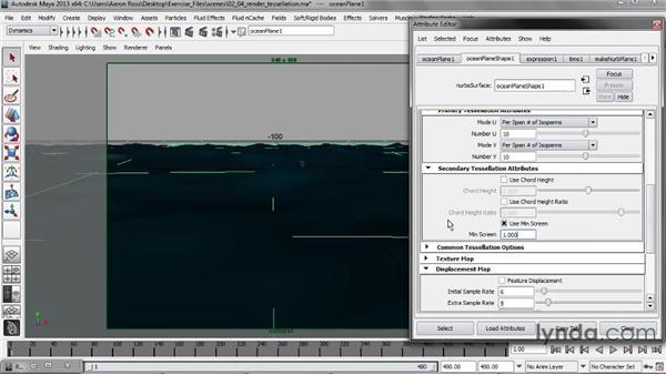 Controlling render tessellation: Creating Fluid Effects in Maya