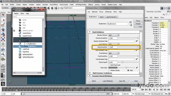 Improving realism with Emit from Object: Creating Fluid Effects in Maya