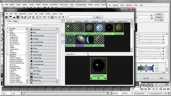 Building a shader network: Creating Fluid Effects in Maya