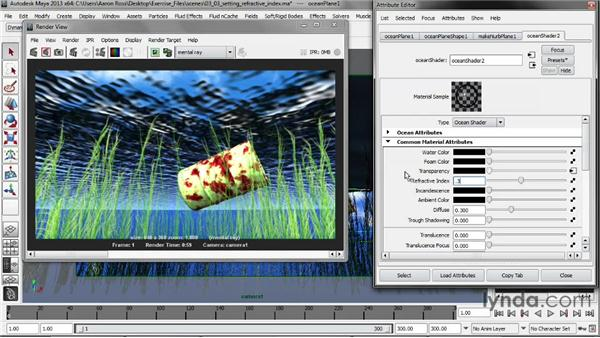 Setting Refractive Index: Creating Fluid Effects in Maya
