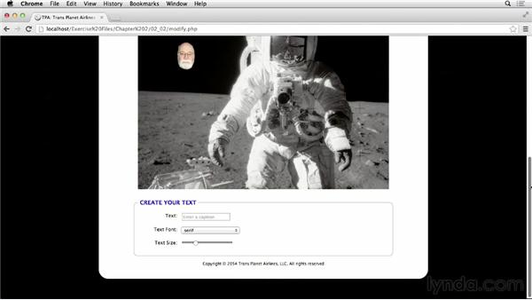 Adding range sliders: HTML5 Projects: Photo Card Titles