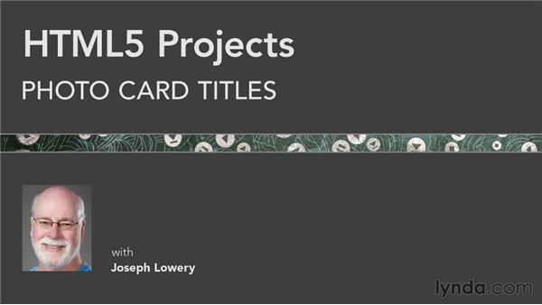 Next steps: HTML5 Projects: Photo Card Titles