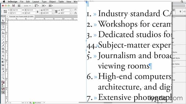 088 Three ways to cheat text outside of its frame: InDesign Secrets