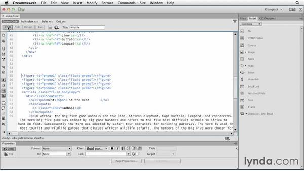 Inserting Edge Animate compositions: Dreamweaver: Creative Cloud Updates