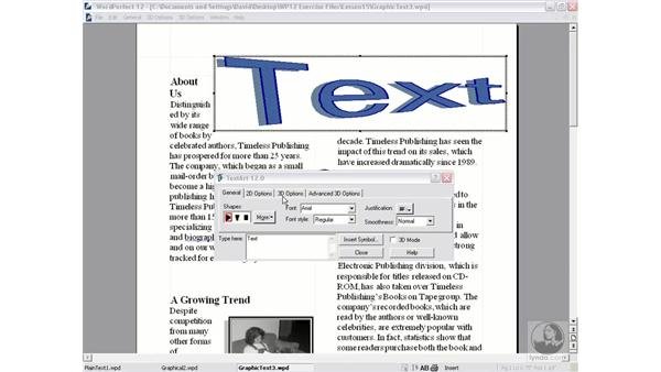 TextArt: WordPerfect 12 Essential Training