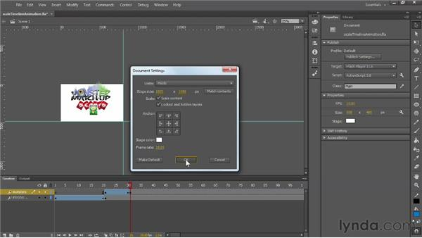 Scaling content to predefined anchor points: Flash Professional: Creative Cloud Updates