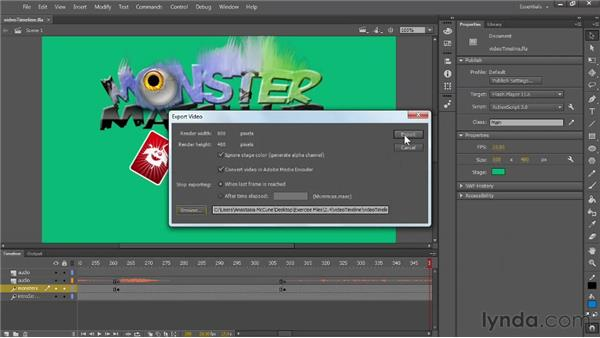 Improved features and workflow for exporting video: Flash Professional: Creative Cloud Updates
