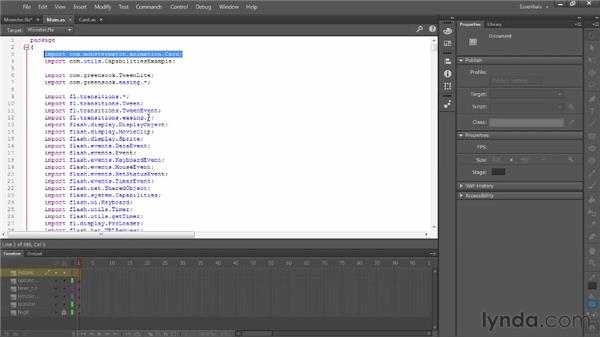 Using the new code editor: Flash Professional: Creative Cloud Updates