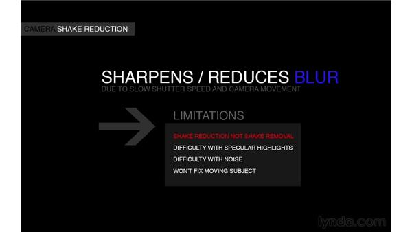 Introducing camera shake reduction sharpening: Photoshop for Photographers: 2013 Creative Cloud Updates