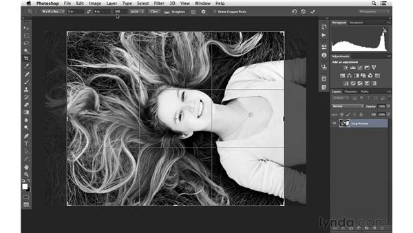 Changing image size and resolution with the Crop tool: Photoshop for Photographers: 2013 Creative Cloud Updates