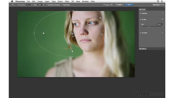 Adding a creative blur effect to video clips: Photoshop for Photographers: 2013 Creative Cloud Updates