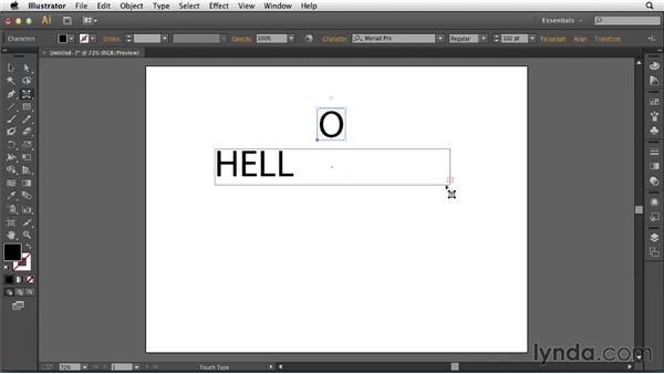 Using the Touch Type tool: Illustrator: 2013 Creative Cloud Updates