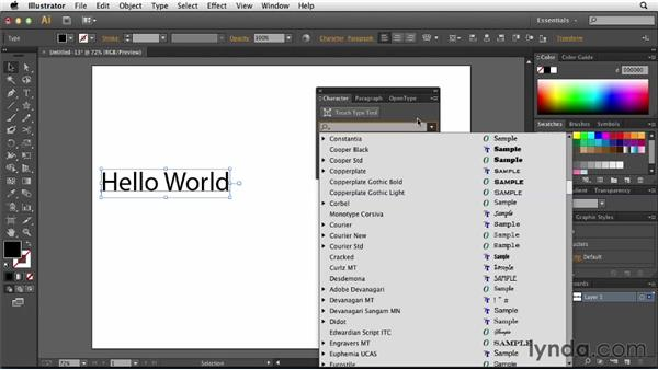 Searching for fonts: Illustrator: 2013 Creative Cloud Updates
