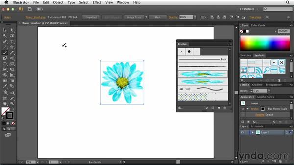 Using images in brushes: Illustrator: 2013 Creative Cloud Updates