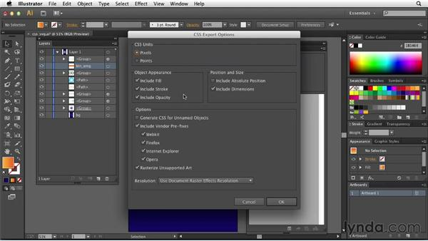 Working with CSS Properties: Illustrator: 2013 Creative Cloud Updates