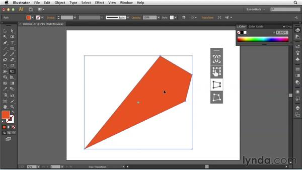 Using the updated Free Transform tool: Illustrator: 2013 Creative Cloud Updates