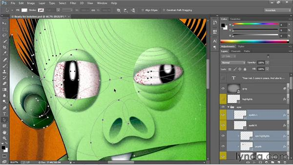 Isolating and releasing layers: Photoshop: 2013 Creative Cloud Updates