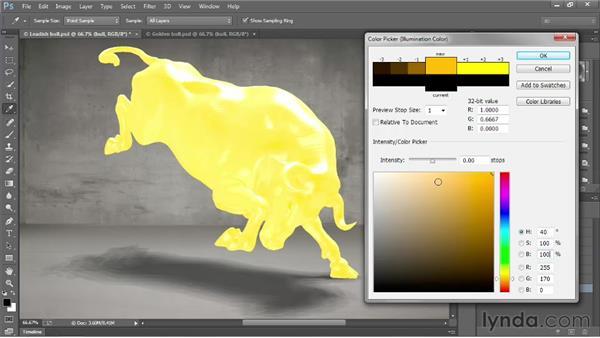 Enhanced 3D lighting with 32-bit color: Photoshop: 2013 Creative Cloud Updates