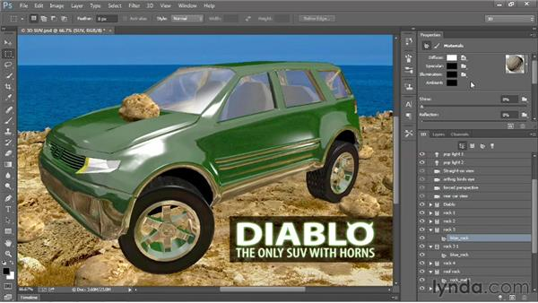 Duplicating, deleting, and grouping 3D objects: Photoshop: 2013 Creative Cloud Updates