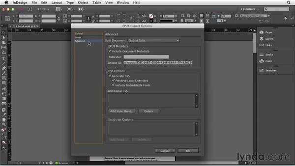 Exporting without CSS: InDesign: 2013 Creative Cloud Updates