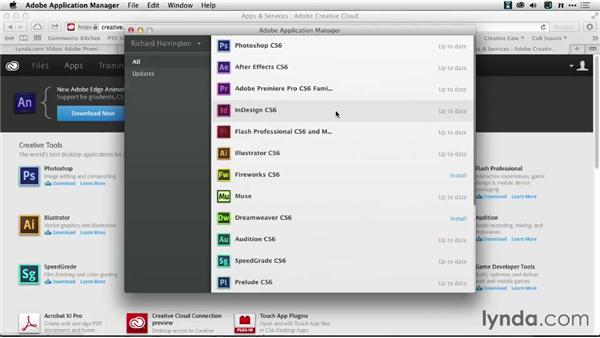 Checking for Software Updates: Premiere Pro: Creative Cloud Updates