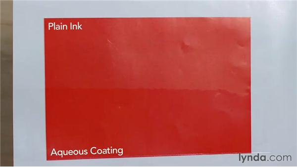 Aqueous flood coatings: Print Production Essentials: Spot Colors and Varnish