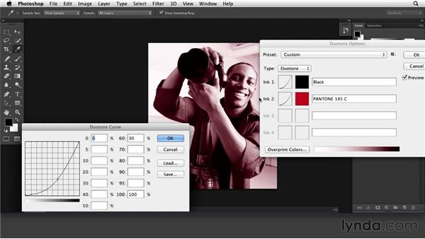 Creating a multitone image (duotone and tritone): Print Production Essentials: Spot Colors and Varnish