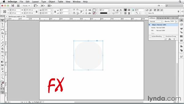 091 Making a bottle cap: InDesign FX