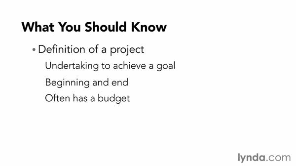 What you need to know before starting: Managing Project Schedules