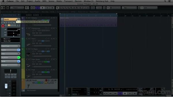 Understanding the Cubase layout: Up and Running with Cubase 7