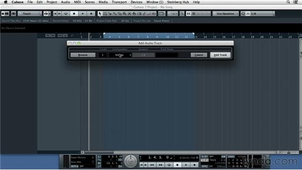 Importing a drum loop as a starting point: Up and Running with Cubase 7